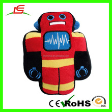 China Cheap Custom Red Plush Furry Robot For Boy Toy