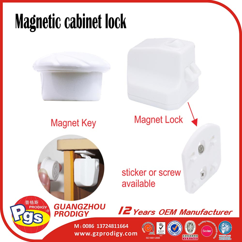 Dual use 6 pack sets magnetic baby safety lock