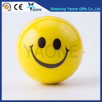 Colorful Promotional Gifts Smile Face Emoji Shaped PU Foam Soft Stress Ball Sports Toy