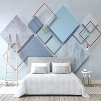 Large luxury modern bedroom geometric pvc wall paper wallpaper home decoration designs 3d