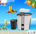 1L pulp capacity, plastic juicer with stainless steel blade and filter