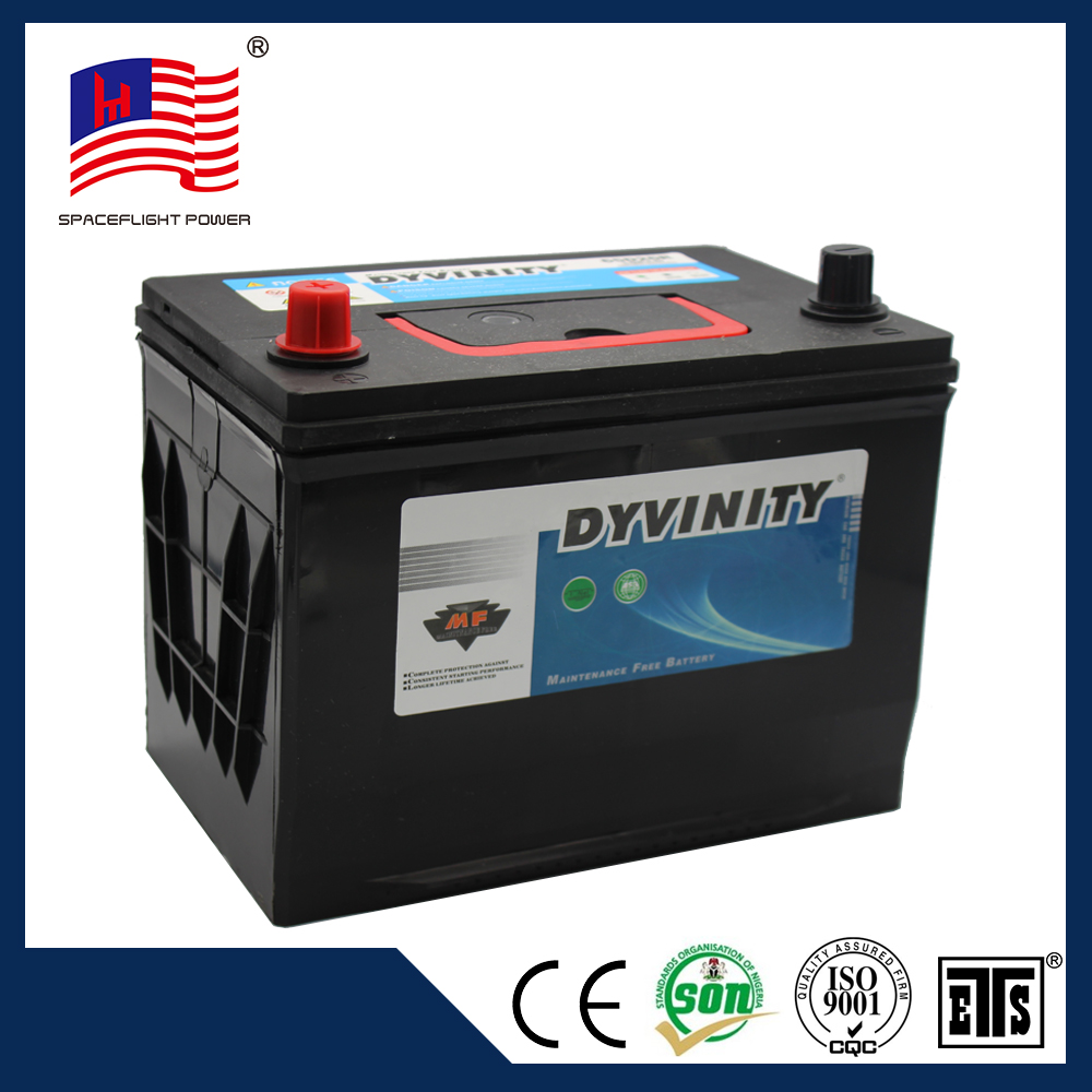 high quality 80D26L 12v 70ah quick start VRLA battery from car