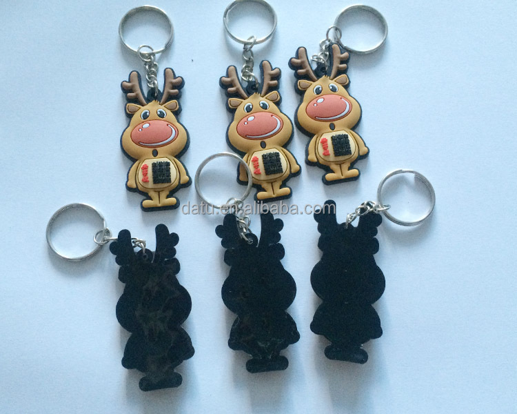 3D/2D advertising soft pvc key chain / key charm / key ring