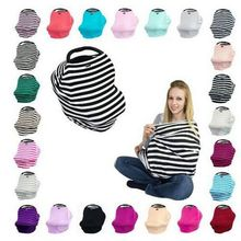 pre order wholesale 3 in 1 infant baby car seat cover rayon nursing cover car seat canopy stripe baby canopy shopping cart cover