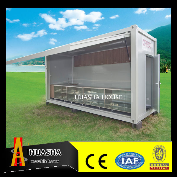 China suppiler mobile waterproof prefabricated food kiosk