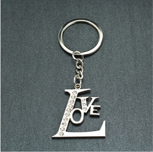 custom all kind of letter keychain alphabet love couple pendant and fashiom letter p pendant lewelry design key chain car