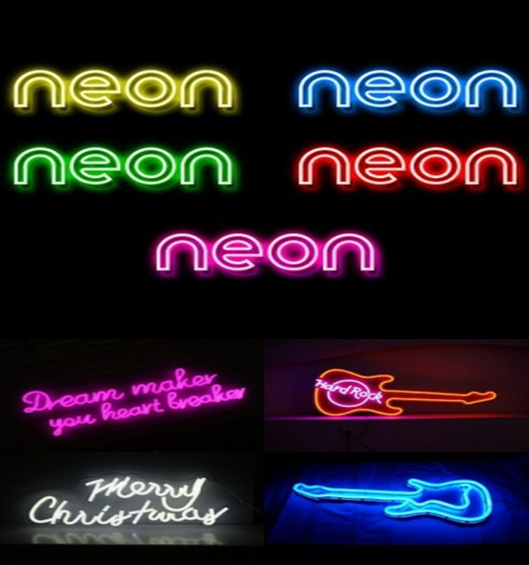 Custom holiday time led neon flex sign lights with CE and RoHS