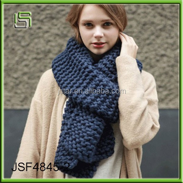 Handmade wool knitted scarves solid color men and women long thick autumn and winter lovers scarves knitted scarf wholesale