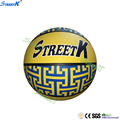 streetk brand top quality rubber basketball ball latest yellow basketball wholesale