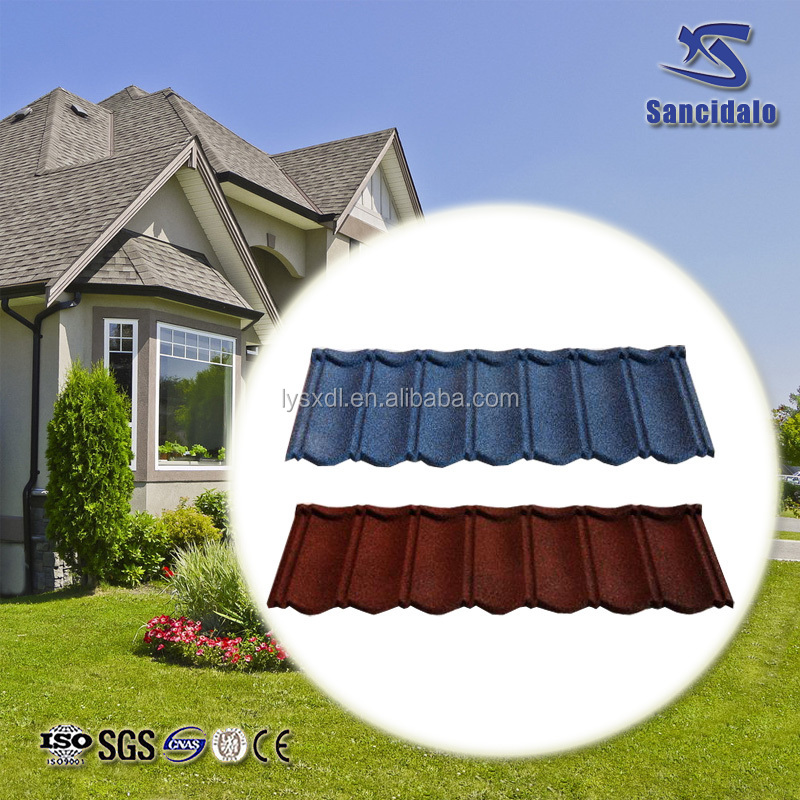china supplier Hot Sale Stone coated metal roofing tiles/aluminum roofing sheets price in kenya