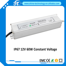 IP67 CE&RoHS waterproof led strip driver 60w 12-24v led switching power supply(SHA-6012 SHA-6024)