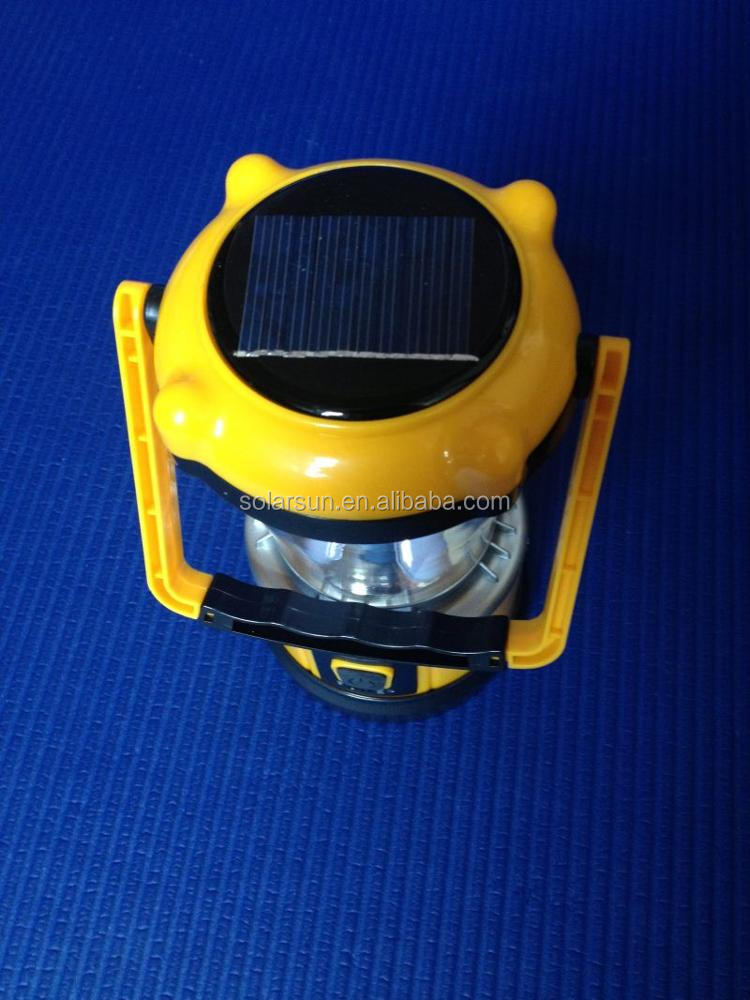 super bright white led camping solar lantern with day night light sensor