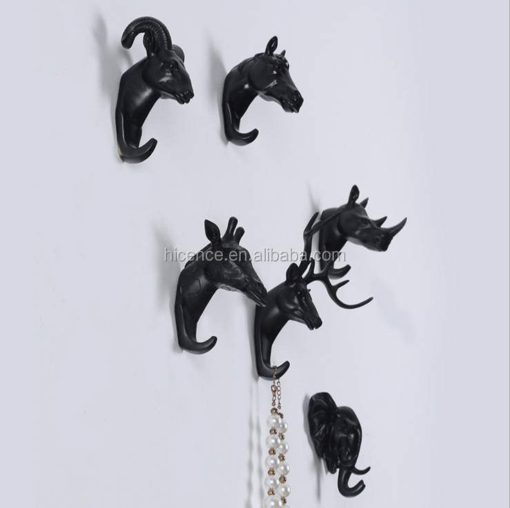 Wall Mounted Resin Decorative Animal Hooks for Clothing