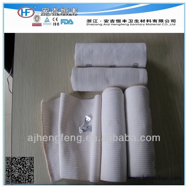 Colored Elastic Compression Bandage High,Non-woven Spunlace Adhesive Wound Burn Cohesive Elastic Bandage