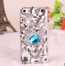 Handmade Swan Lake Crystal Diamond 3D Cell Phone Bling Case For Samsung Galaxy S5/s4 and IPhone5s/5c/4