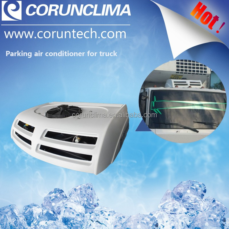 DC powered air conditioner for forklift cab