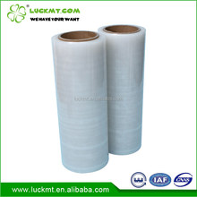 Excellent LLDPE material 12/17/23/25/30 mic soft clear plastic packing film