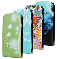 2015 Custom art printing leather flip cover case for samsung galaxy s4 active