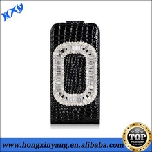 Stylish Diamond flip leather case cover for iphone 5 5s