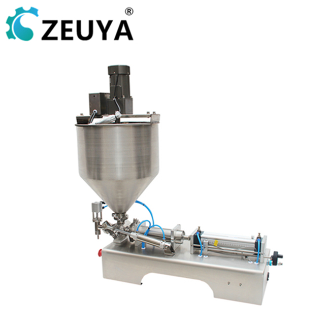 wholesale price two filling <strong>nozzles</strong> 5-100ml semi-automatic <strong>fruit</strong> paste filling machine zeuya