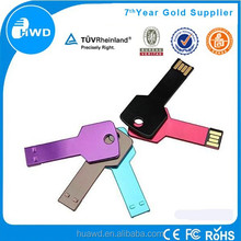 Alibaba Wholesales Cheap Price USB Key Metal usb flash drive ,key shape usb Real Capacity