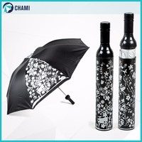 Assured quality fashion black vine bottle umbrella
