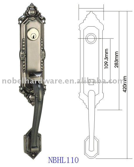 zinc-alloy main door lock handles BP 85 75mm