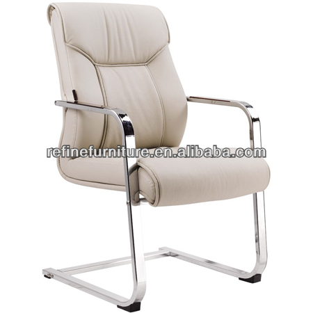 modern leather chrome cantilever metal frame office chair RF-V029