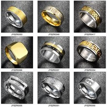 Simple Design Titanium Steels Mens Designer Finger Rings