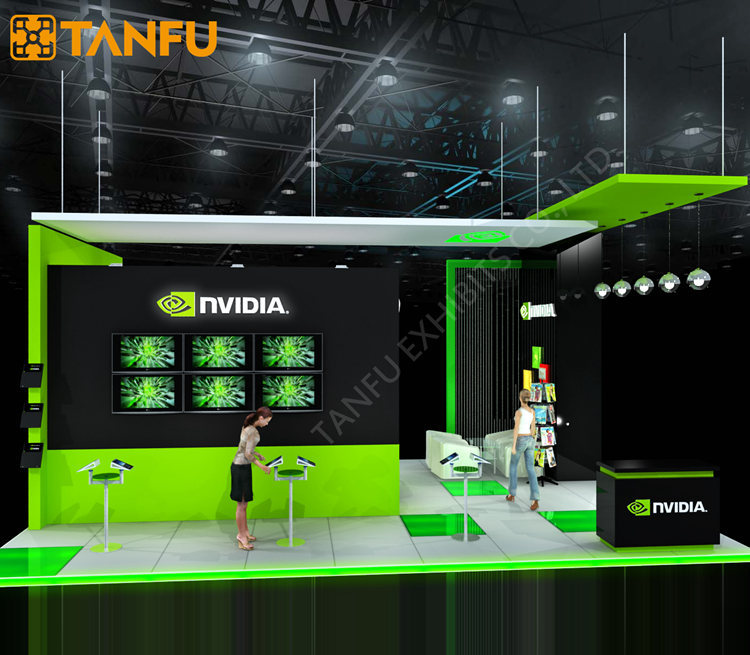 6x9 or 20x30 Trade Show Booth Equipment for Game from TANFU
