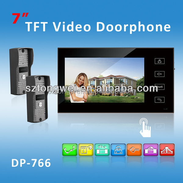 7 inch touch keys video doorphones Smart Home /intercom function