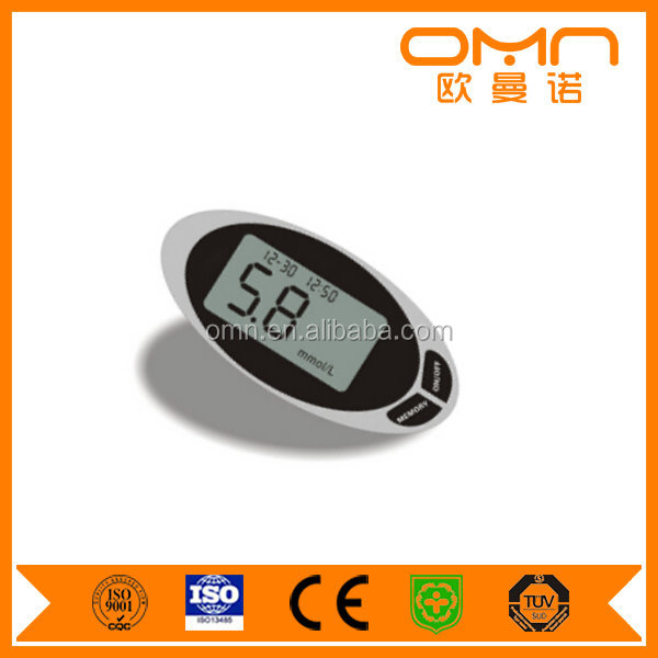 Medical Fast 24h Blood Glucose Meter Sugar Instrument with Free Strips Lancets Accurate Home Test Device