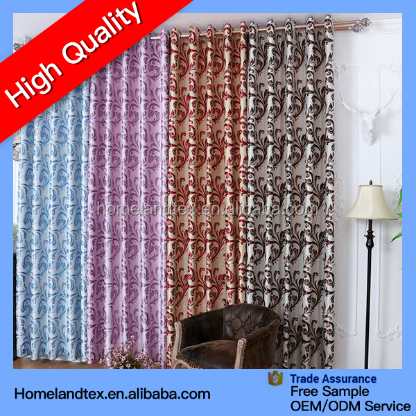 Wholesale Curtain 100% Polyester Luxury Jacquard Blackout Ready Made Curtain Turkey