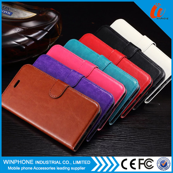 For iPhone 7 Wallet Flip Mobile Phone Case With Card Slots