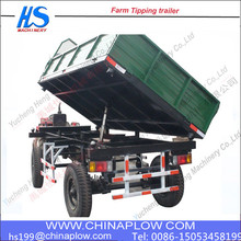 Compact structure container tipper trailer / tractor tipper trailer for sale