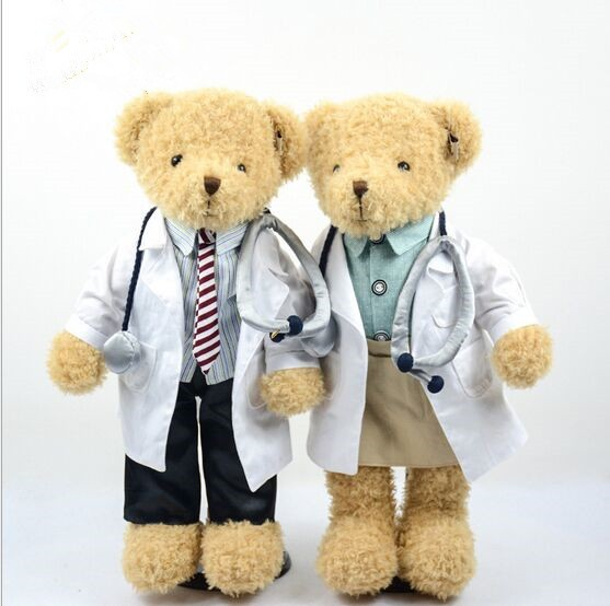 Cute Plush Doctor Teddy Bear Hospital Gift For Patient ...