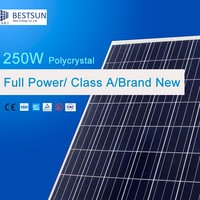 Mono black solar module 235W-255W with 156*156 solar cell for solar power system home/commercial use 250w