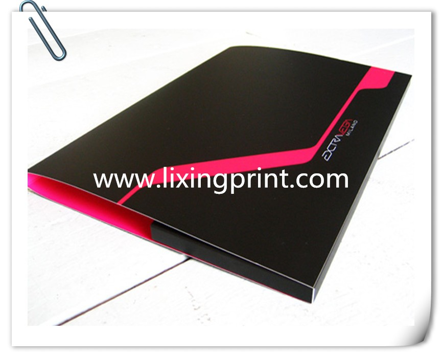 folder with business card slot