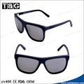 Outdoor fashion unisex black frame smoke lens cool italy design ce sunglasses wholesale China
