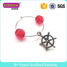 Chinese supplier compass pendant rings for wine bottle glass