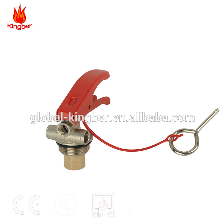 CE Standard Brass Material Red Handle 4-6KG ABC Dry Powder Fire Extinguisher Valve with Nickel Plated