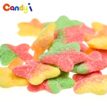 Yummy fruit jelly star shape gummy candy with sugar coated