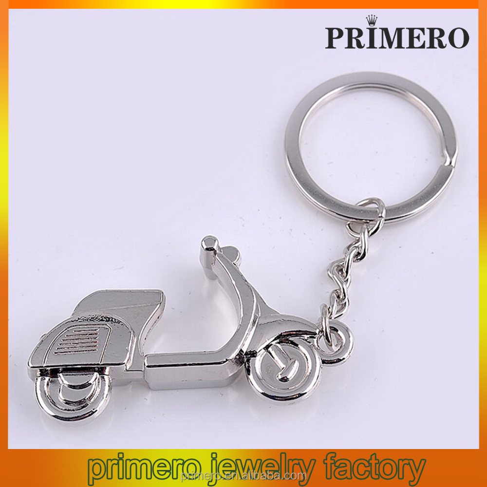 New fashion gift retro men silver color cool motorcycle shape keychain Wholesale car logo keychain