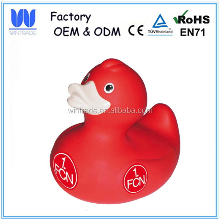 Customized squishy squeeze toy bath toy duck shape non-phthalate babies kids toys