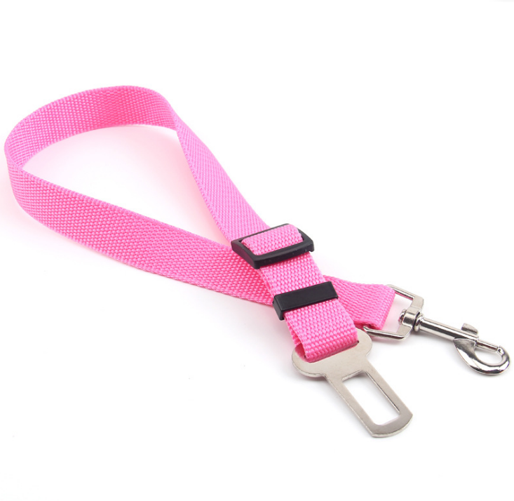 Adjustable Polyester Webbing Pet Dog Safety Leads Car Vehicle Seat Belt Harness Dog Seatbelt