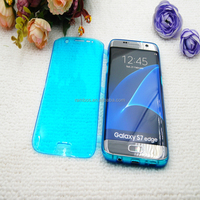S7 Edge Crystal Clear Flip TPU Case Cover Celulares for Samsung Galaxy S7 / S7 Edge