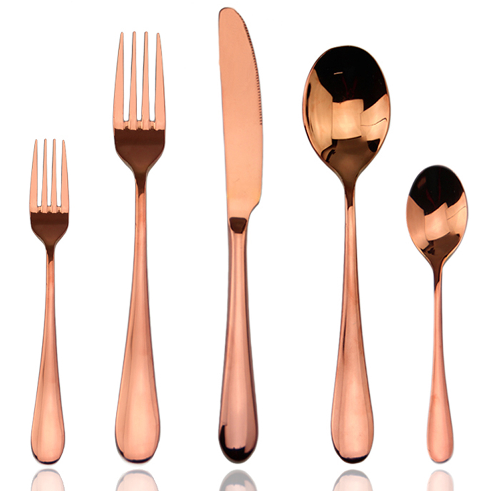 Rose gold names of cutlery set items