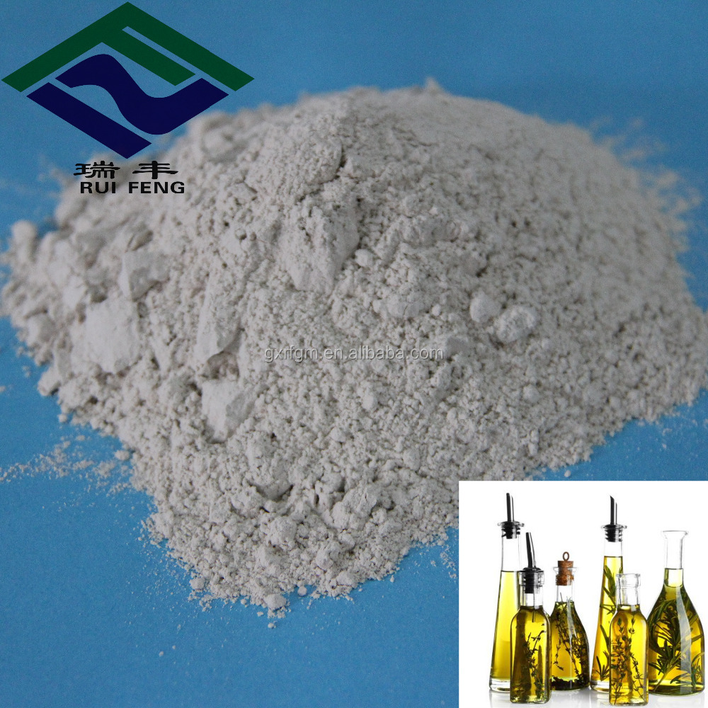 water treatment activated bentonite clay refined olive oil
