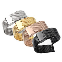 Mesh stainless steel PVD watch band 22mm