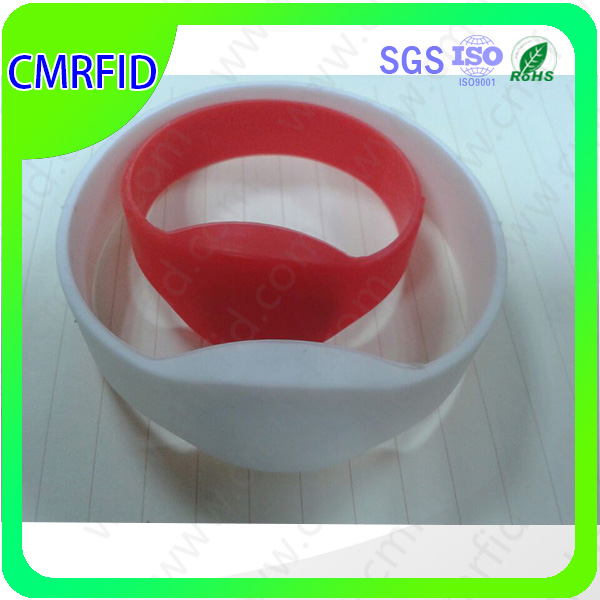 Printable 13.56 MHz ISO 14443 A RFID Tag/ Wristband/ Bracelets by custom design for event ticketing